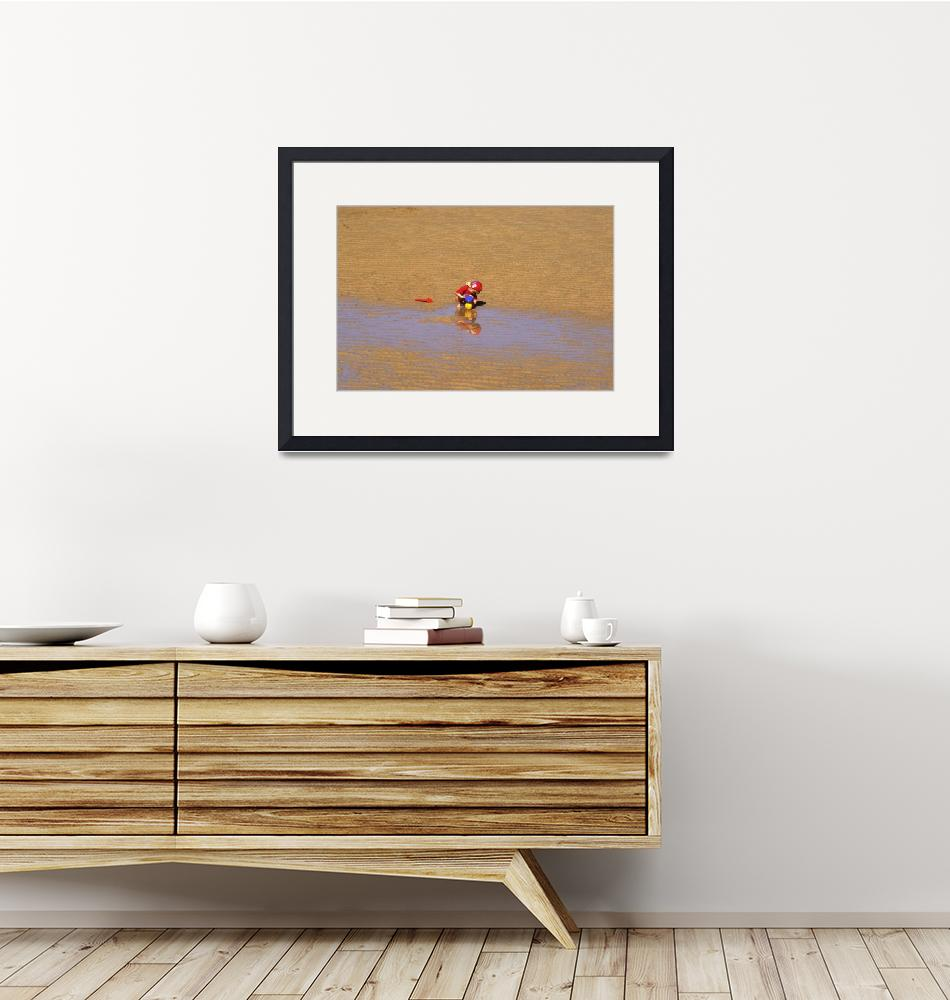 """""""Child Playing on the Sand""""  (2000) by JoaoPonces"""