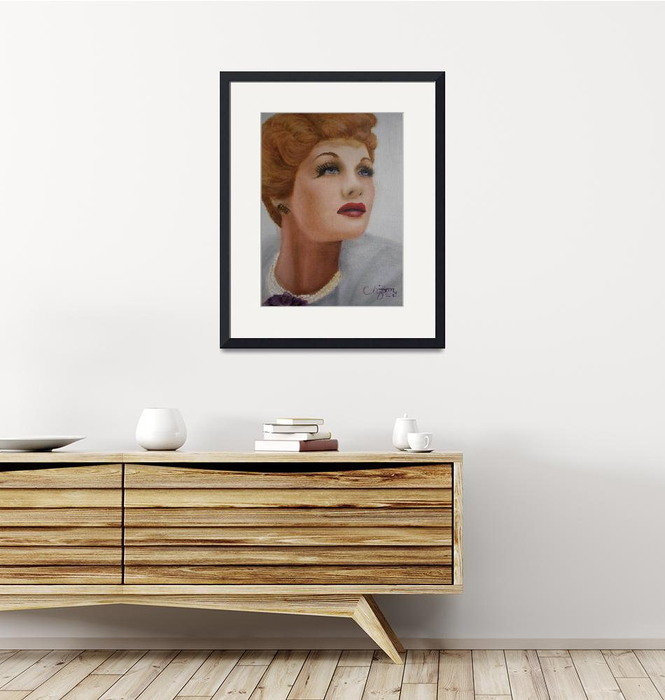 """Lucille Ball (Lucy)"" (2012) by cliftondesigns"