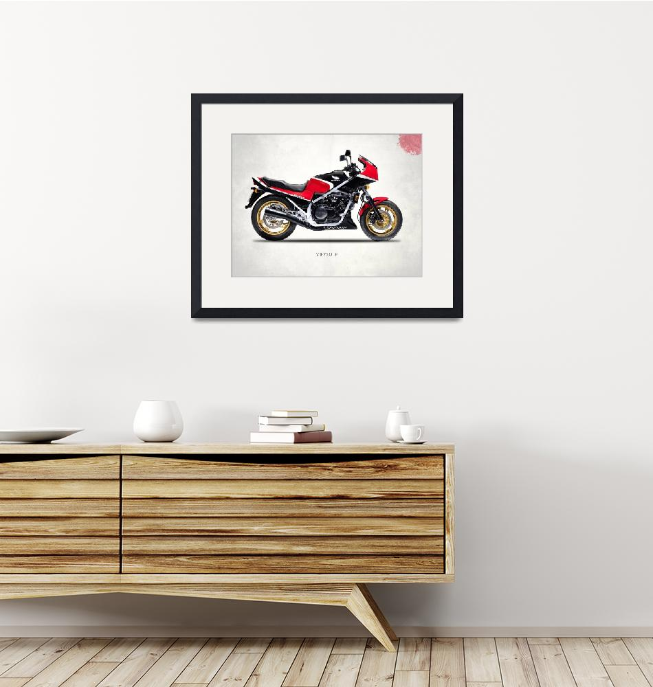 """The VF750F Classic Motorcycle""  by mark-rogan"