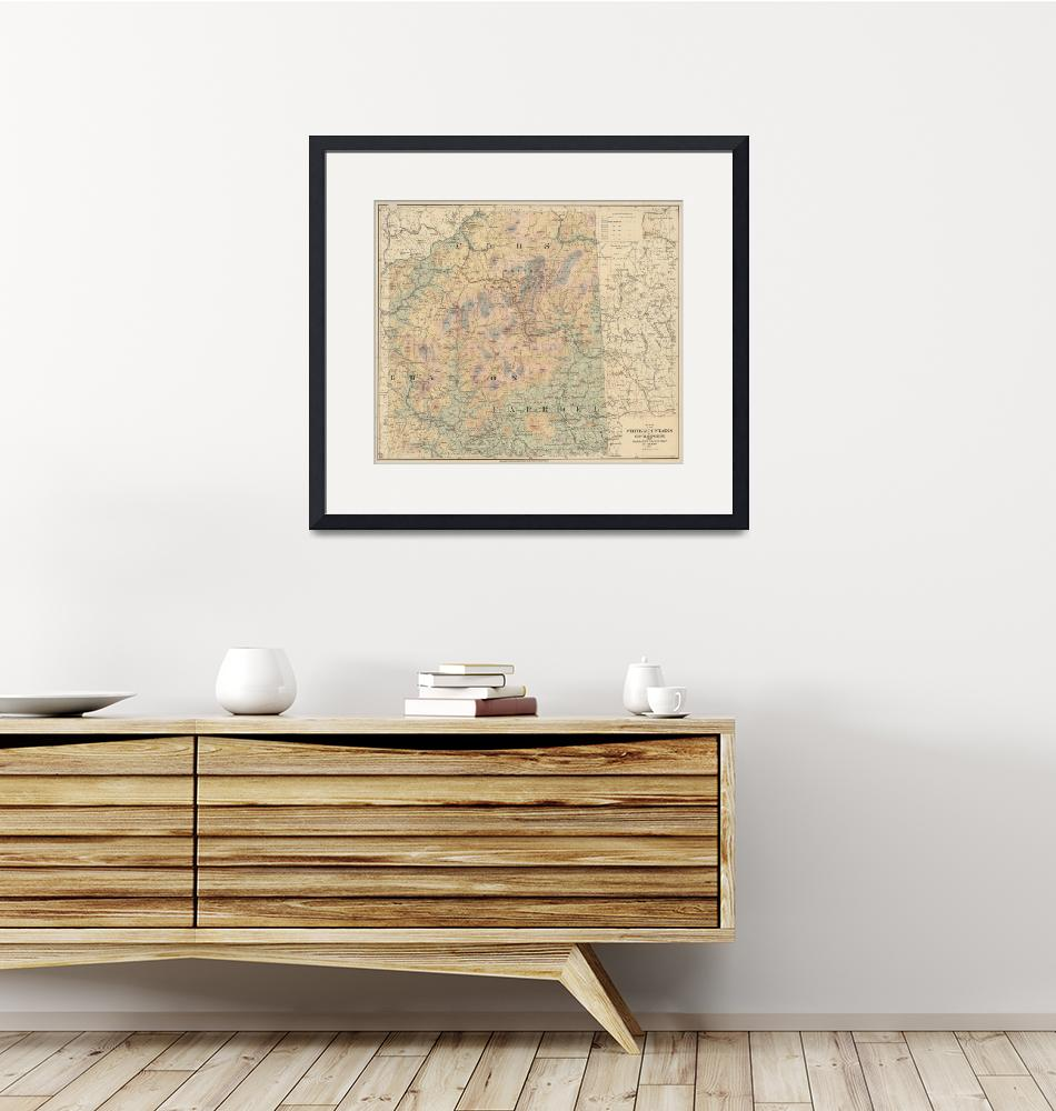 """Vintage Map of The White Mountains (1881)""  by Alleycatshirts"