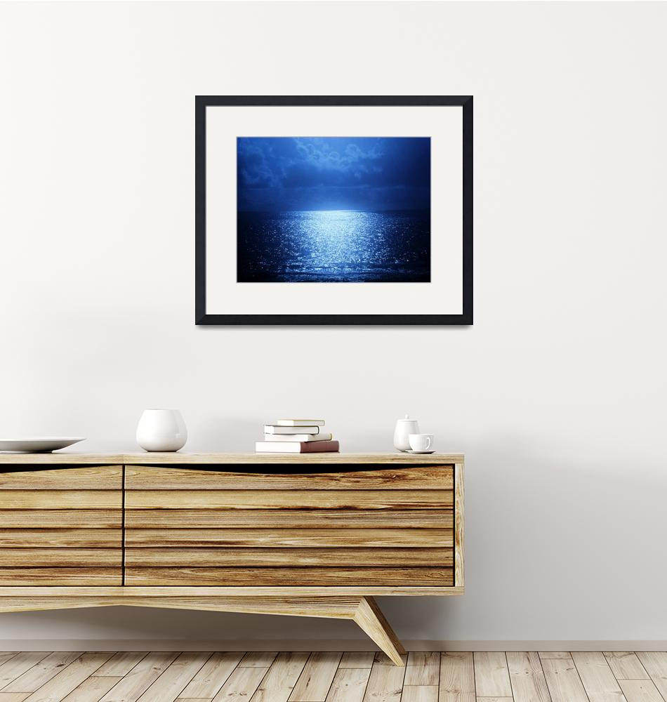 """""""A Moon-Kissed Shimmering Sea""""  by Nuanceart"""