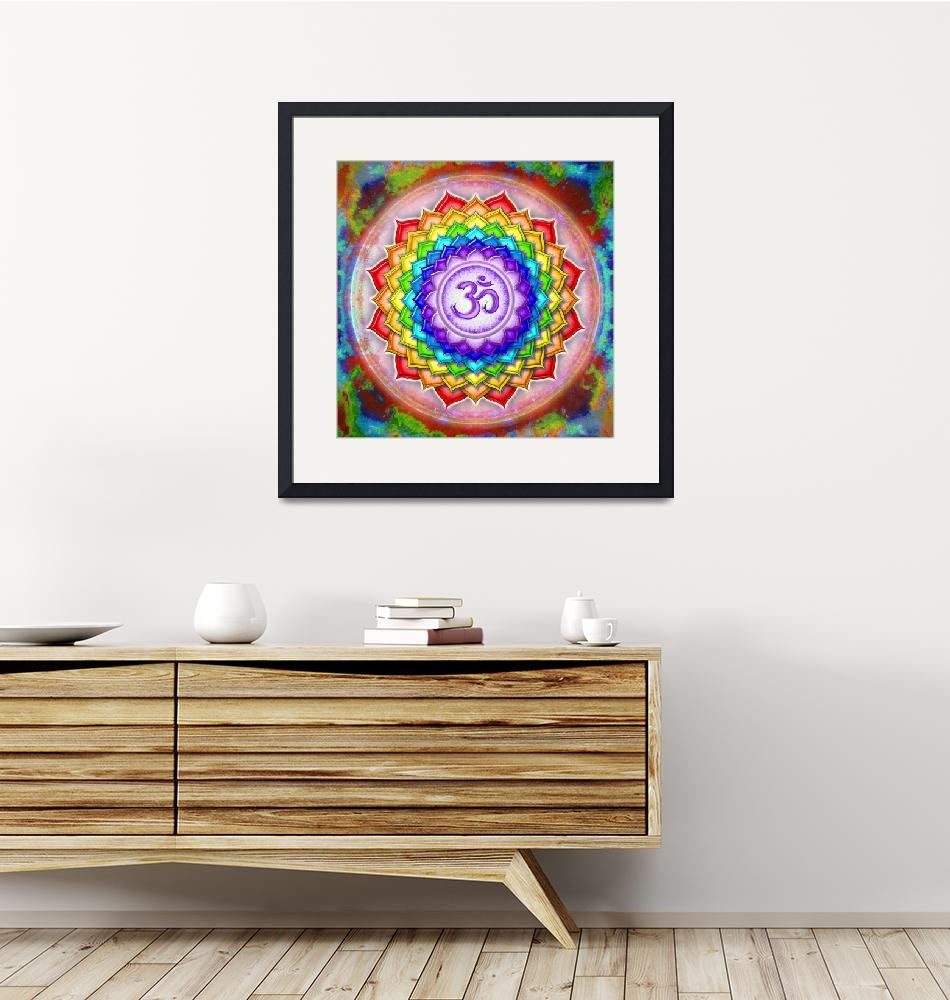 """""""Crown Chakra - Series 5 Artwork Rainbow Colors""""  by dcz"""