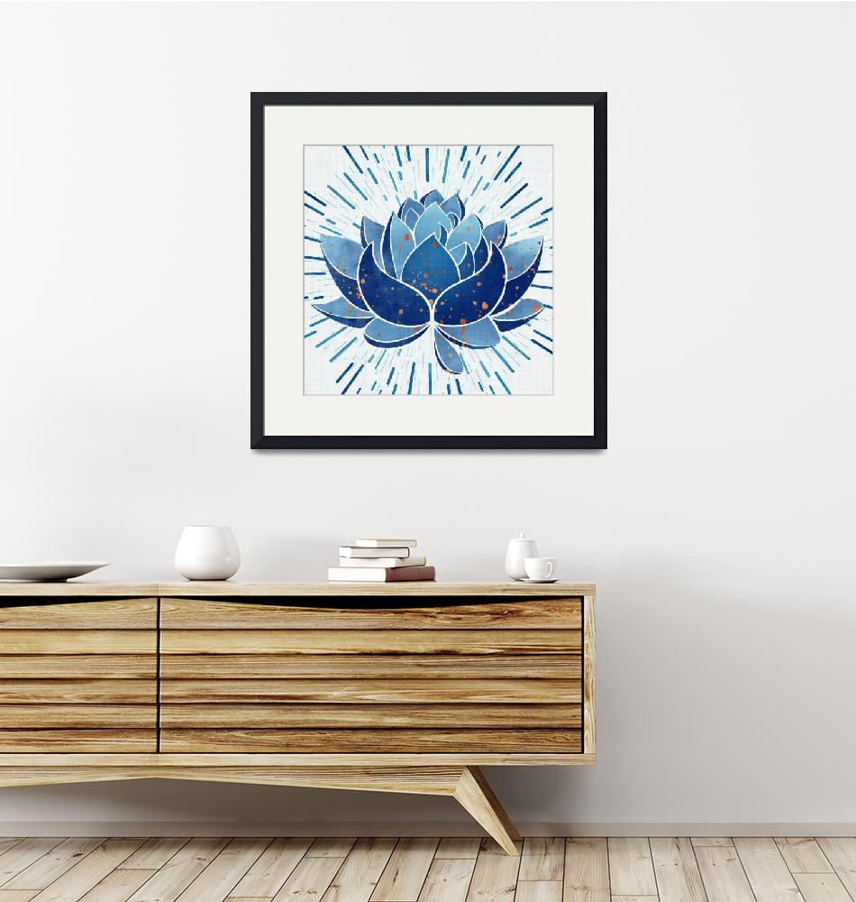 """Blue Lotus""  (2018) by moderntropical"