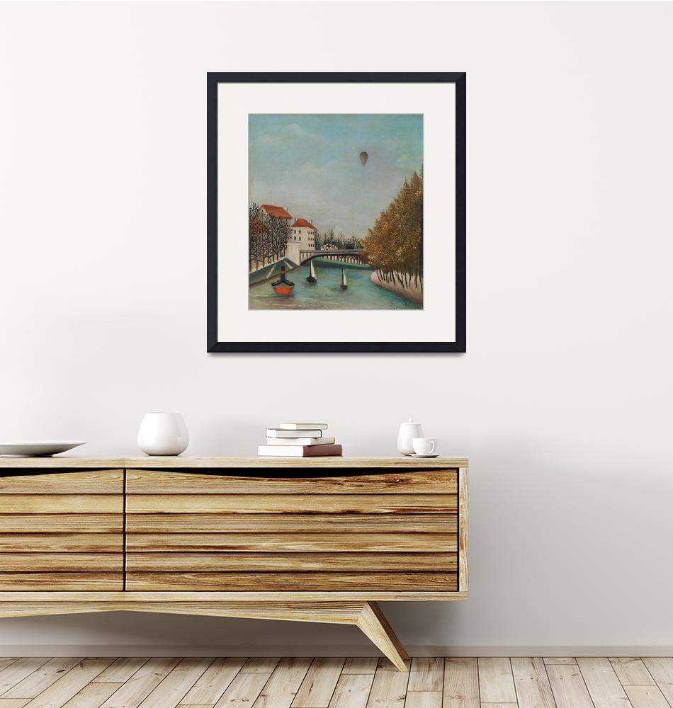 """Study for View of the Pont de Sèvres by Rousseau"" by FineArtClassics"