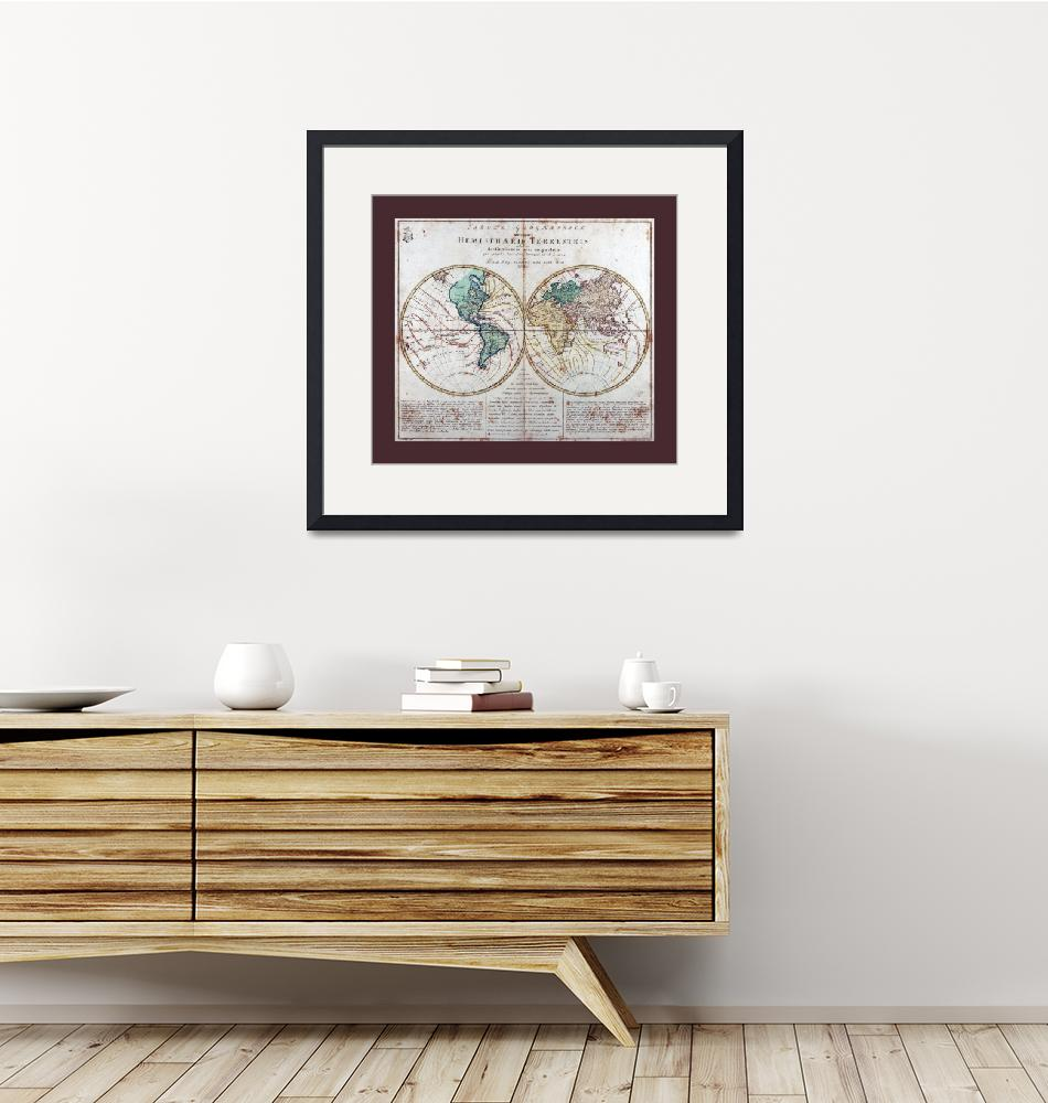 """""""World  Map AD 1760 with Matching Small Border""""  (2013) by TheNorthernTerritory"""
