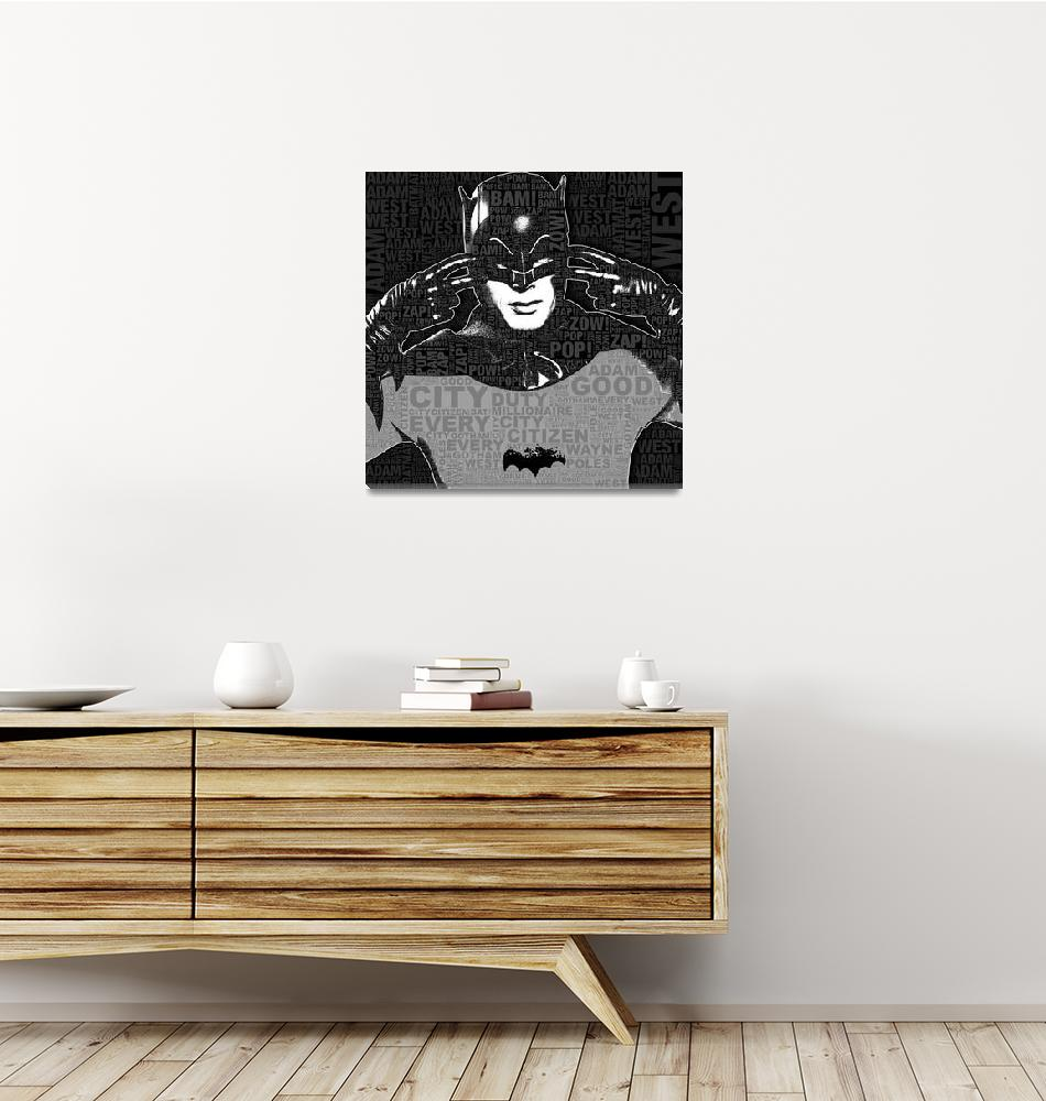 """""""TV Batman Adam West and Quotes""""  (2013) by RubinoFineArt"""