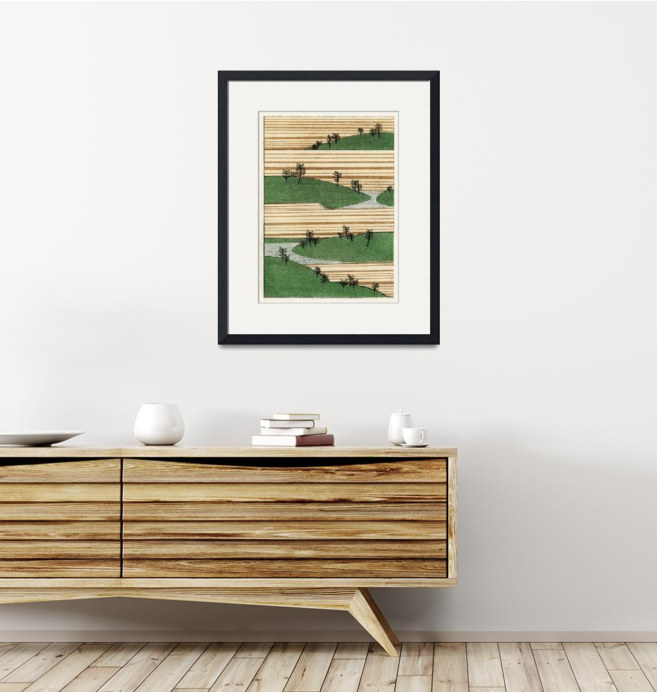 """""""Landscape Illustration by Watanabe Seitei""""  by FineArtClassics"""