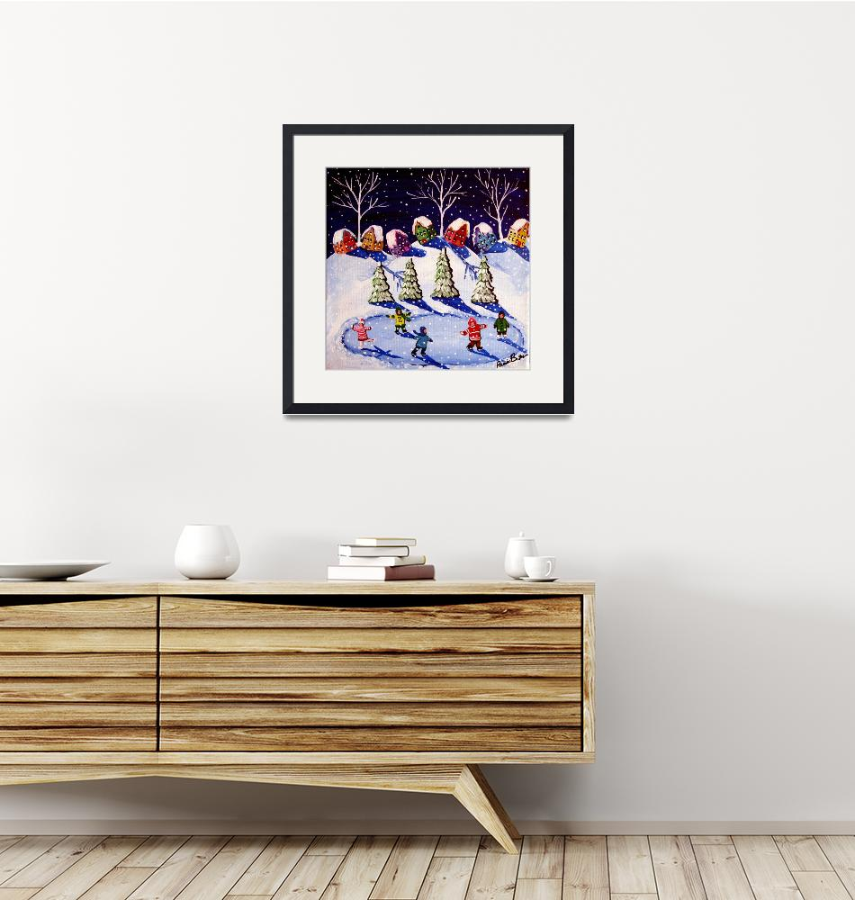 """Little Ice Skaters""  (2008) by reniebritenbucher"