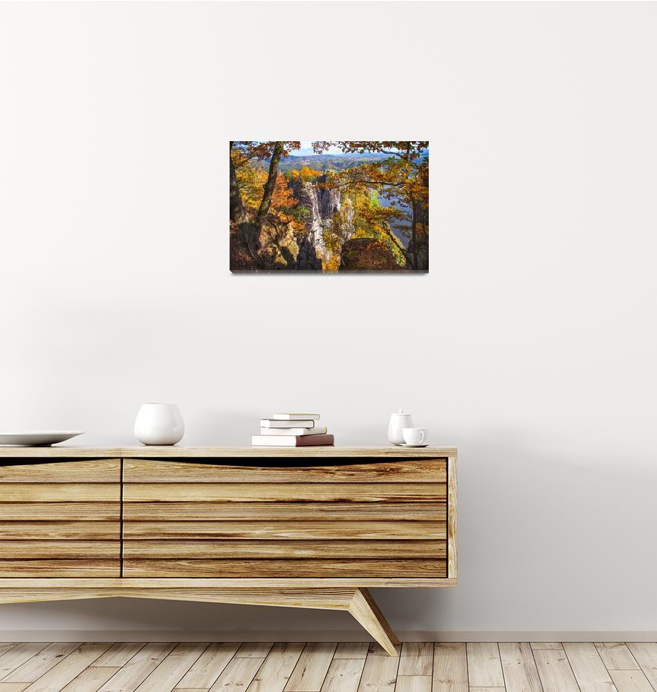 """""""Autumnal Frame. Saxon Switzerland""""  (2016) by JennyRainbow"""