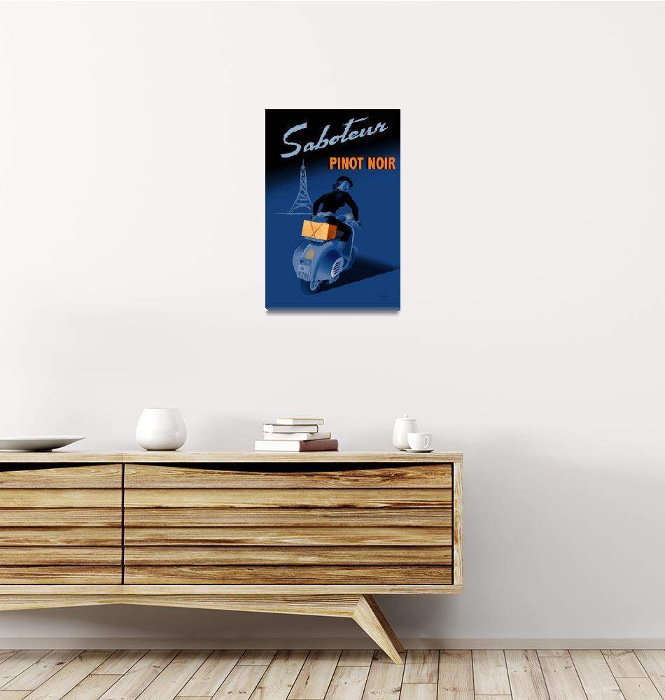 """Saboteur pinot noir poster""  (2008) by badvamps"