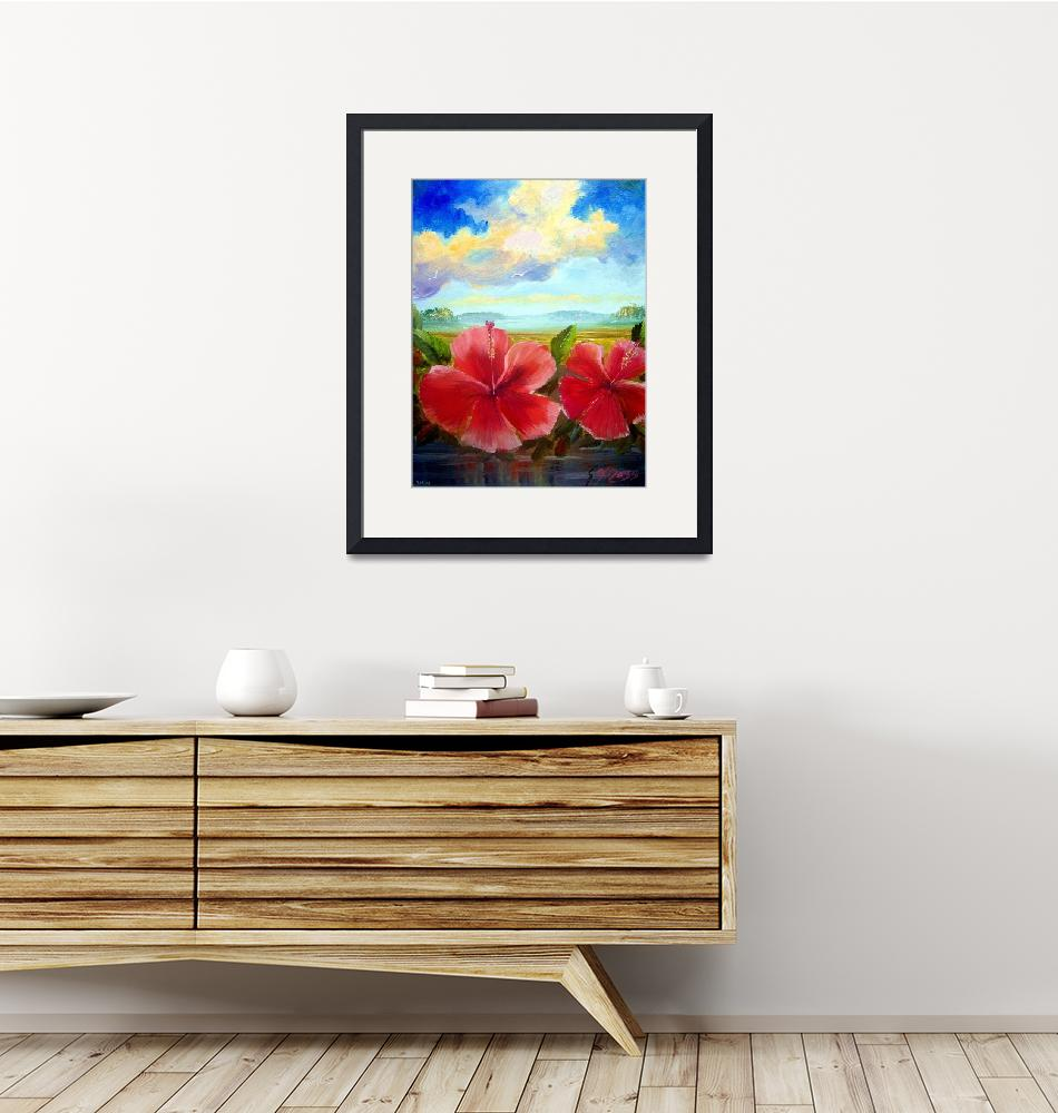 """""""Hibiscus Oil Painting""""  (2009) by mazz"""