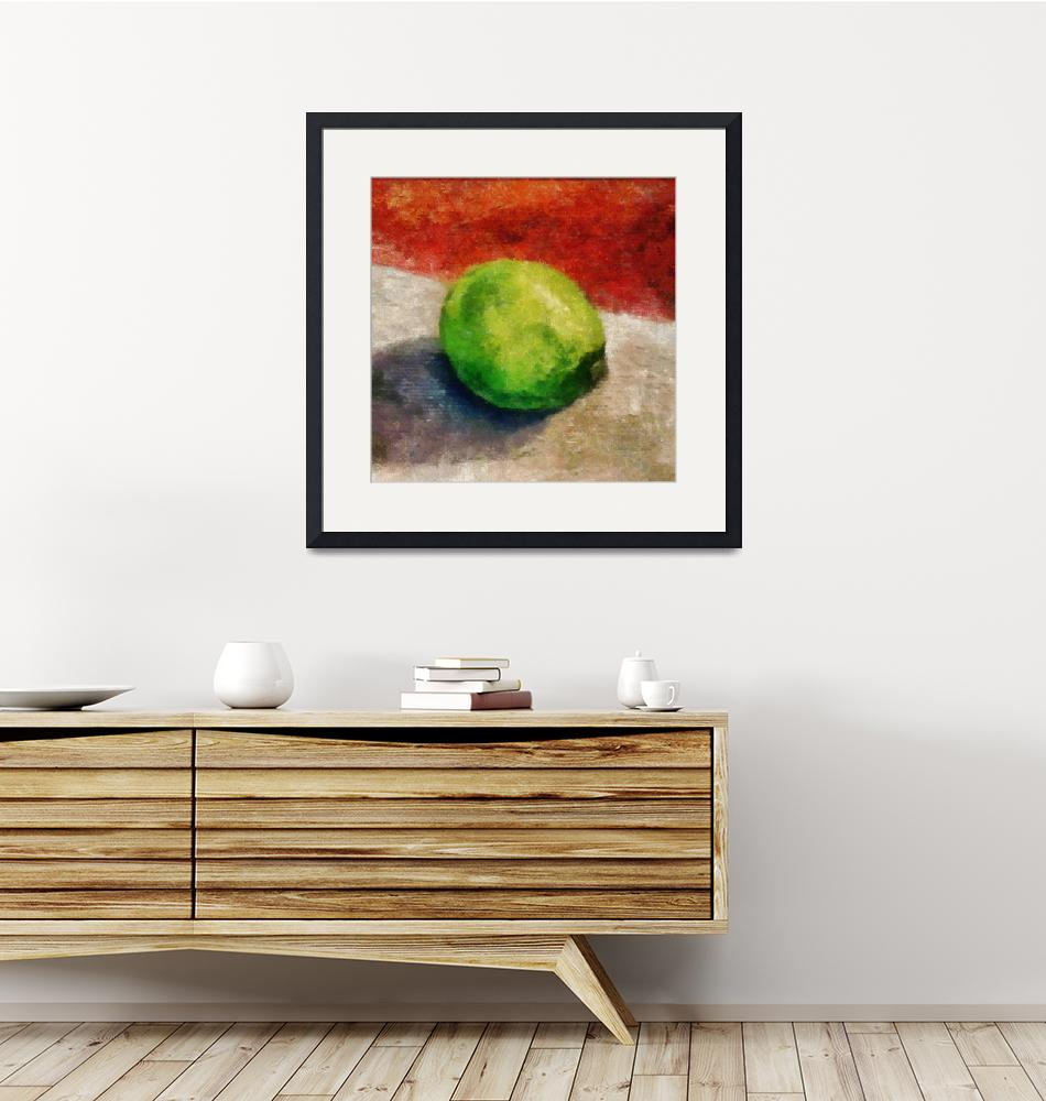 """""""Lime Still Life with Grey and Red""""  (2012) by Michelle1991"""