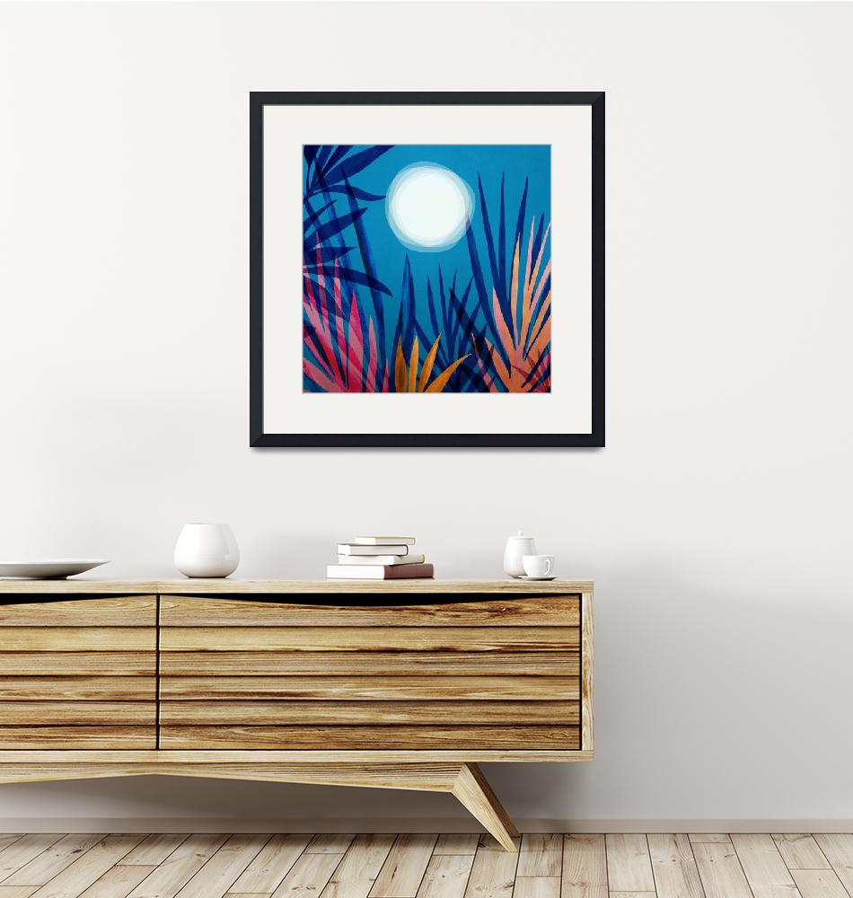 """""""Moonit Garden""""  (2019) by moderntropical"""
