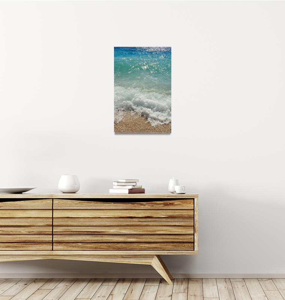"""Waves on the beach. Podgora, Croatia""  (2012) by creative_photography"