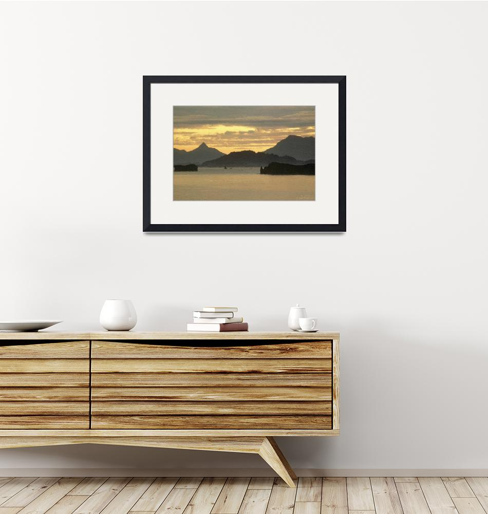 """Chiniak Bay, Kodiak National Wildlife Refuge - Oil""  (2012) by WallArtDeco"