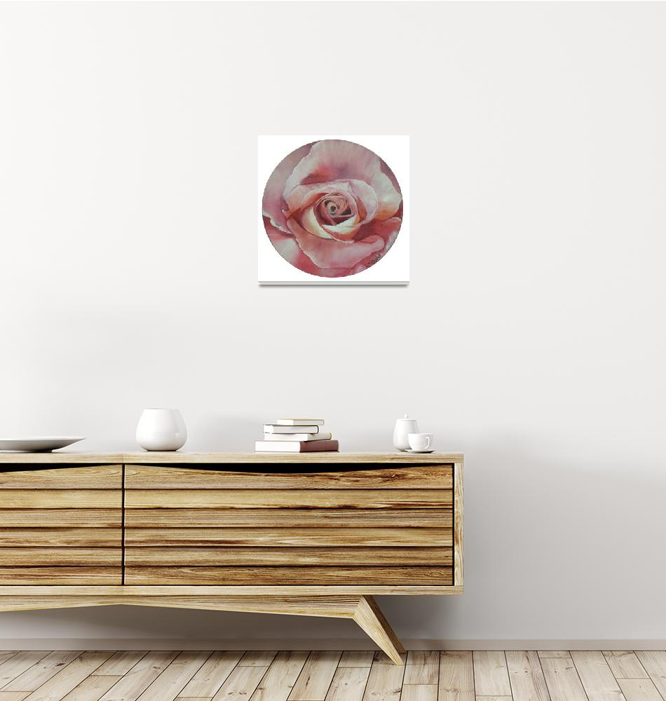"""""""Rose on Vinyl Record""""  (2008) by claudiagoodell"""