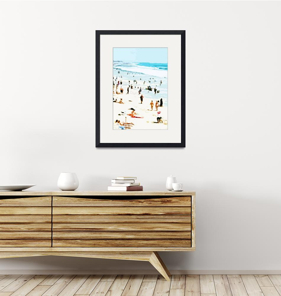 """""""A Day at the Beach VI - Abstract""""  (2008) by tomhawkins"""