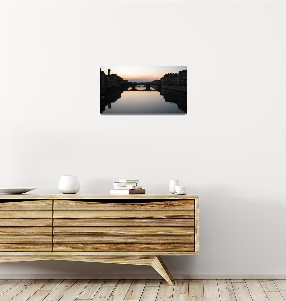"""""""Sunset on the Arno River""""  (2009) by BMRamos"""