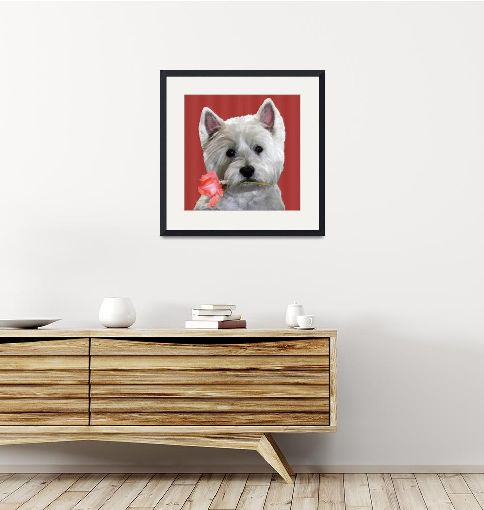 """""""WESTIE HAS A ROSE FOR YOU""""  (2015) by norska43"""
