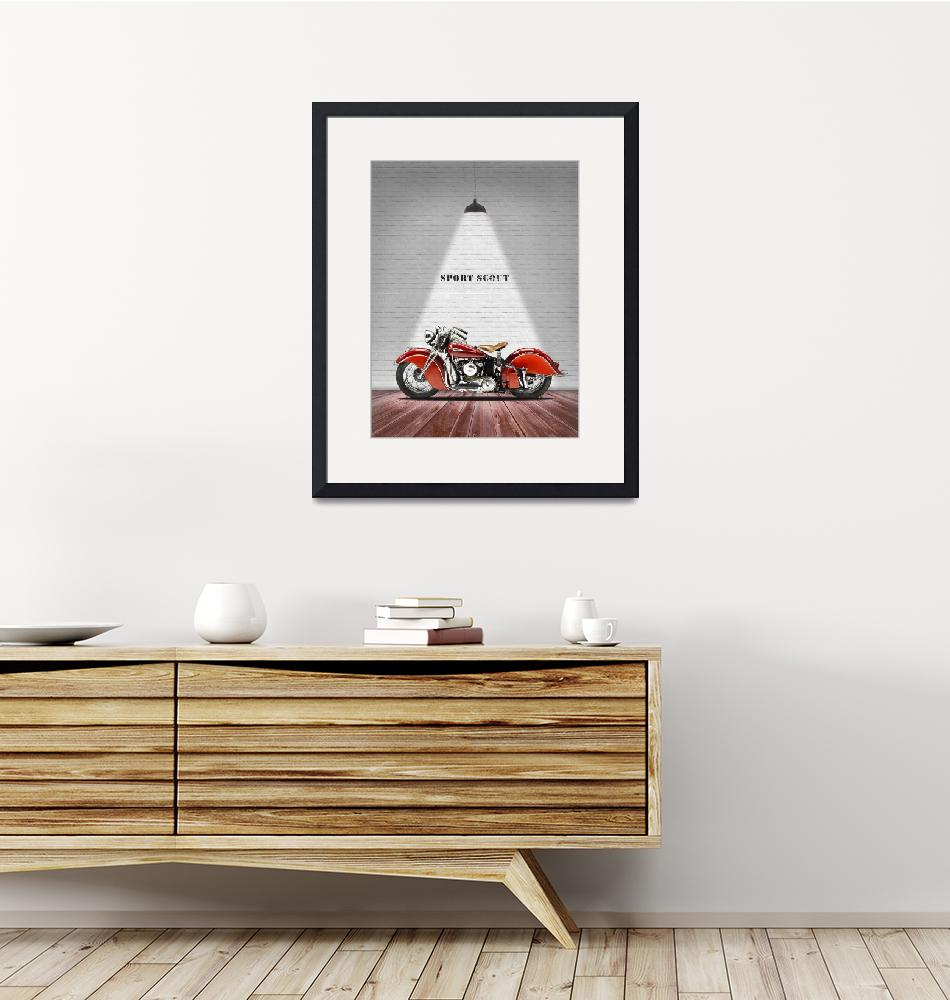 """""""The Sport Scout Vintage Motorcycle""""  by mark-rogan"""