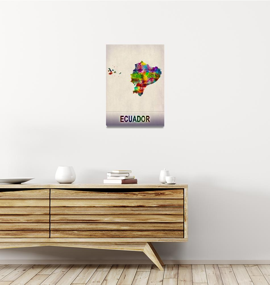 """Ecuador Map""  by Towseef"