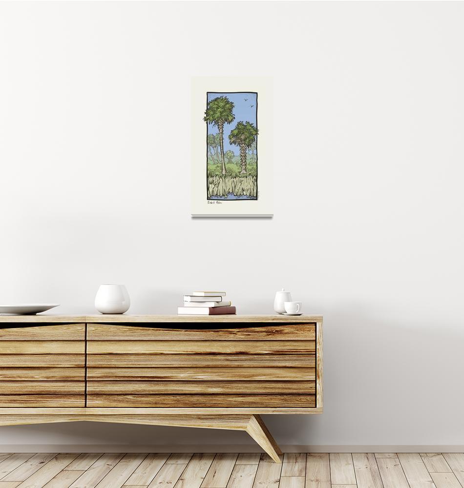 """Florida Critter: Sabal Palm""  (2009) by houseboatstudio"