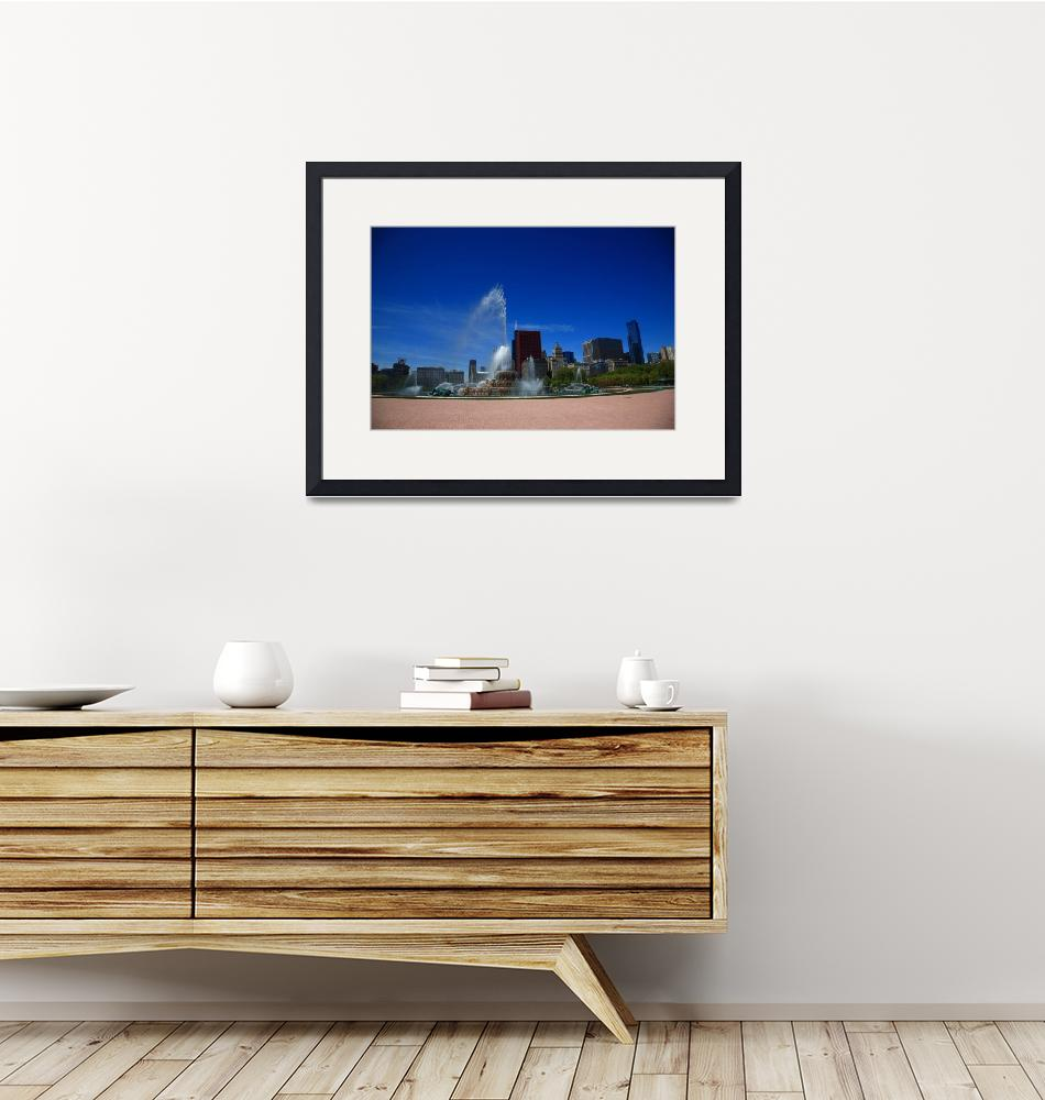 """""""Chicago Skyline and Buckingham Fountain 2010 #6""""  (2010) by Ffooter"""
