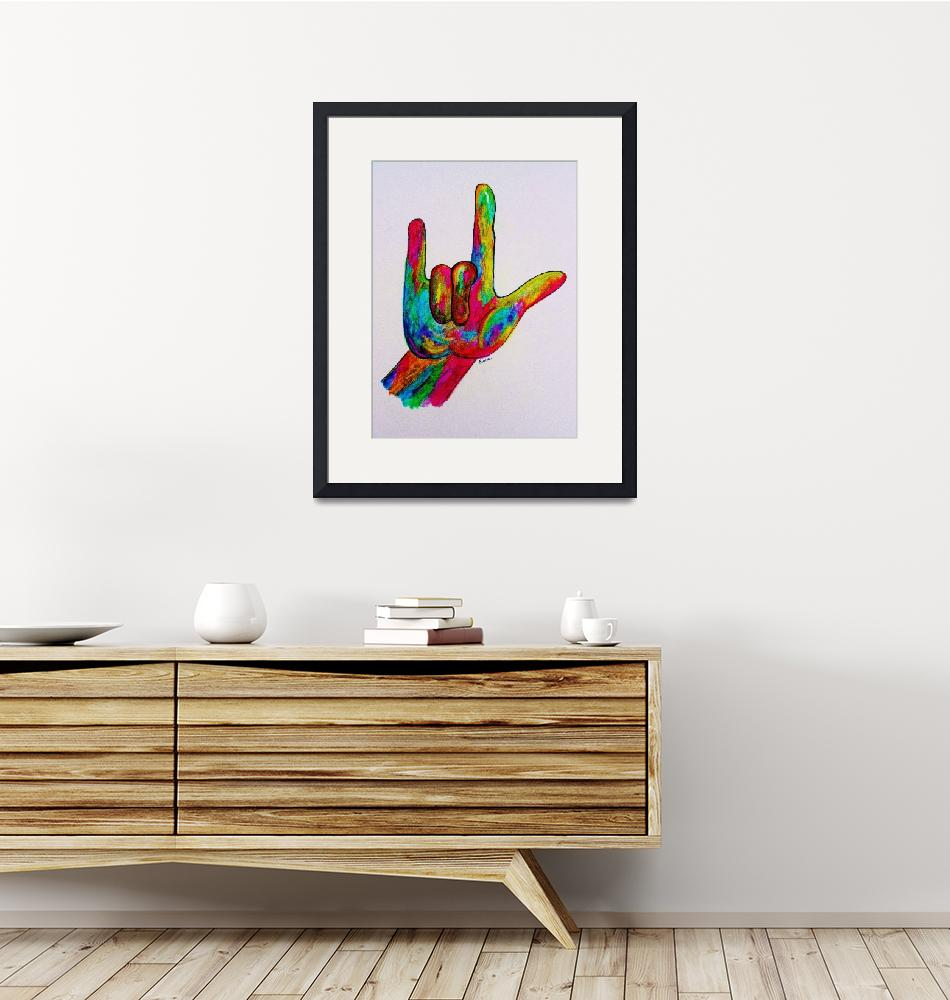 """""""American Sign Language I LOVE YOU""""  by EloiseArt"""