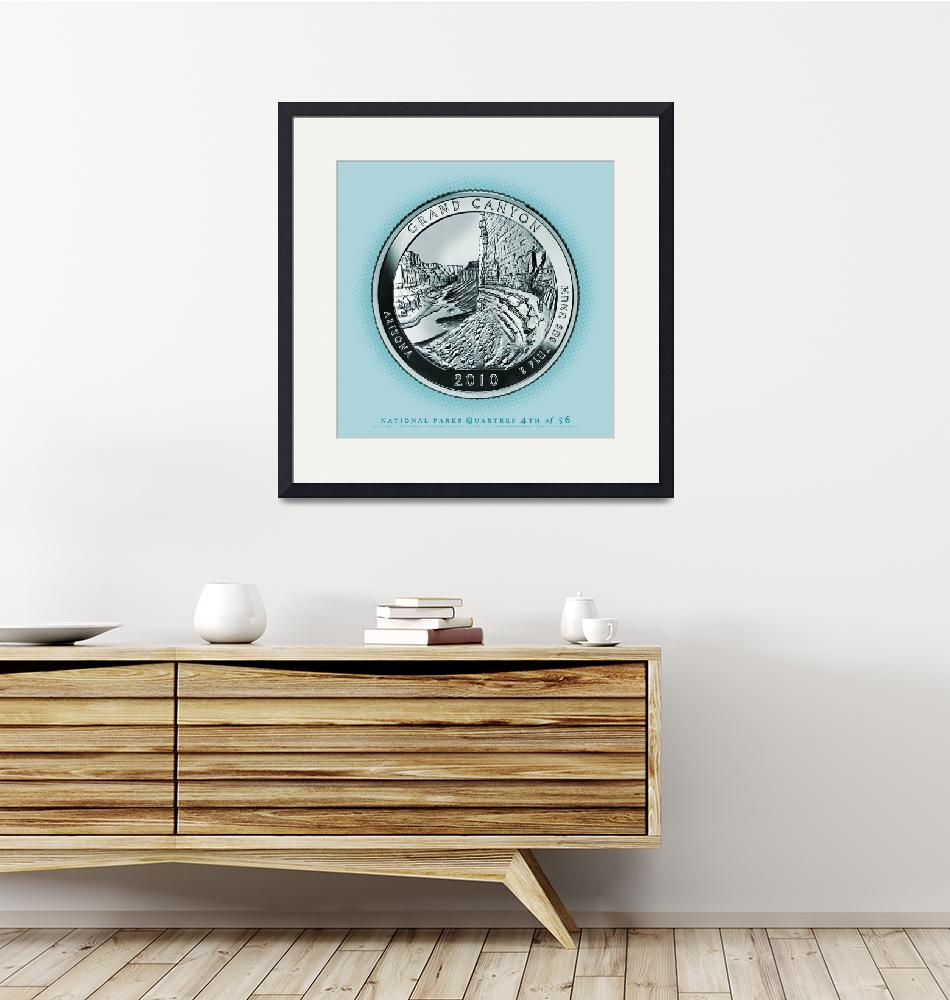 """""""Grand Canyon, Arizona - Portrait Coin 60""""  (2017) by statequarters"""