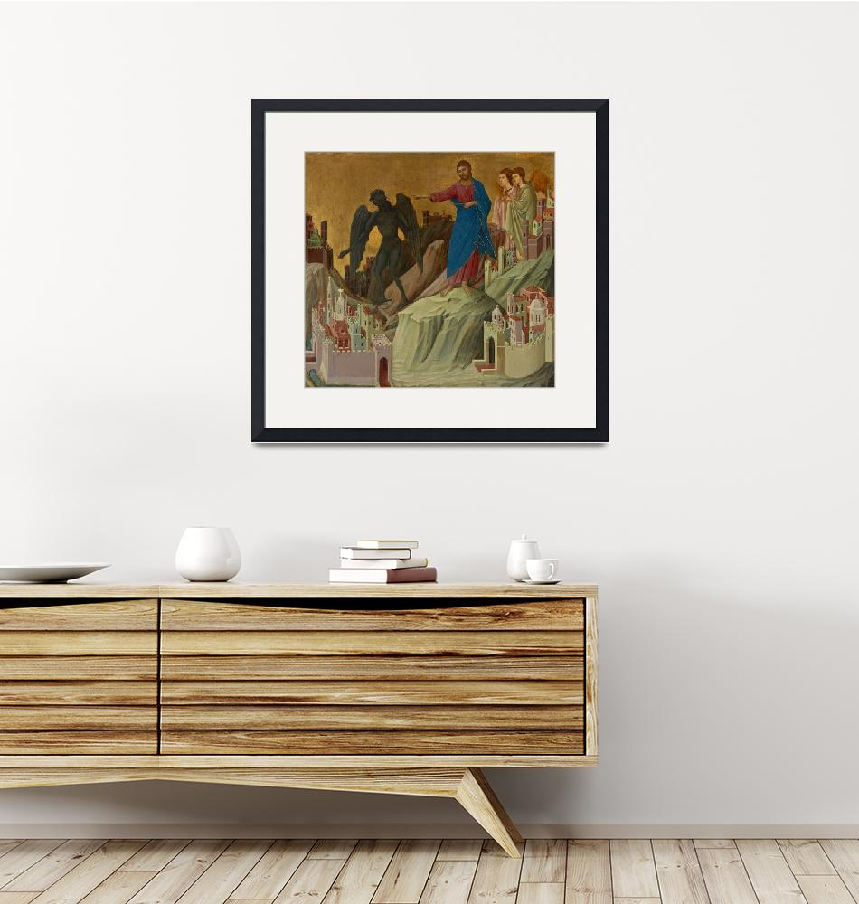 """""""Duccio~The Temptation of Christ on the Mountain"""" by Old_master"""