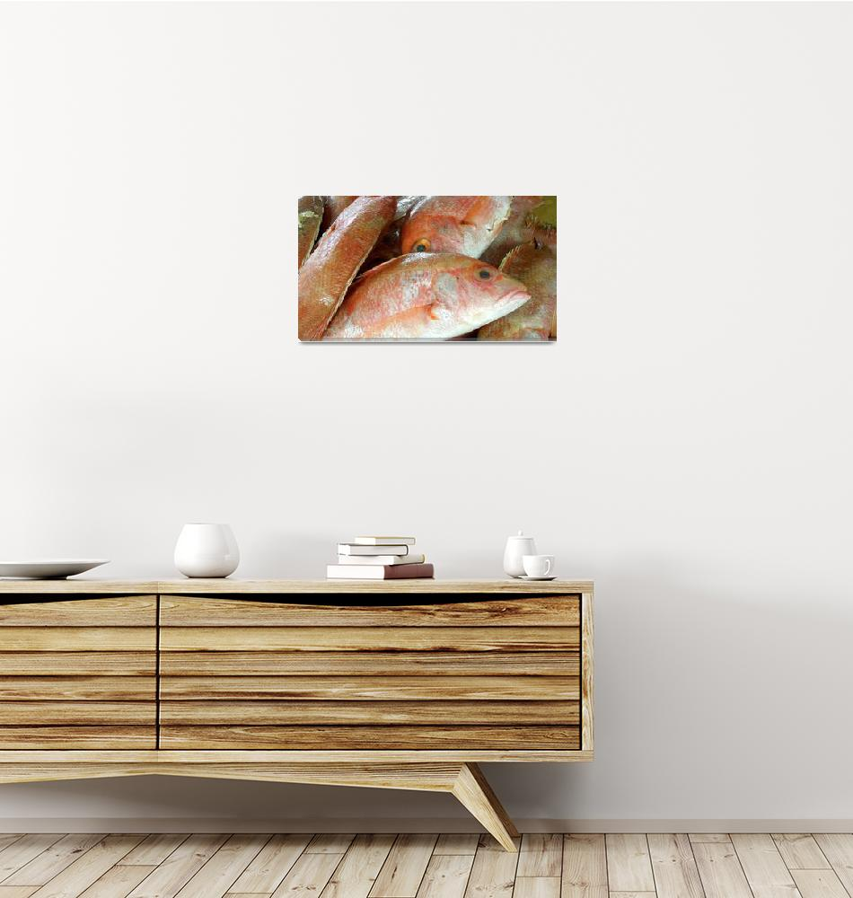 """Red Fish for Sale""  (2012) by MoonLiteStudio"
