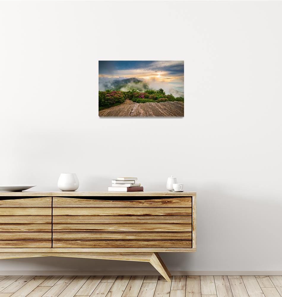 """""""North Carolina Appalachian Blue Ridge Mountains""""  (2015) by DAPhoto"""