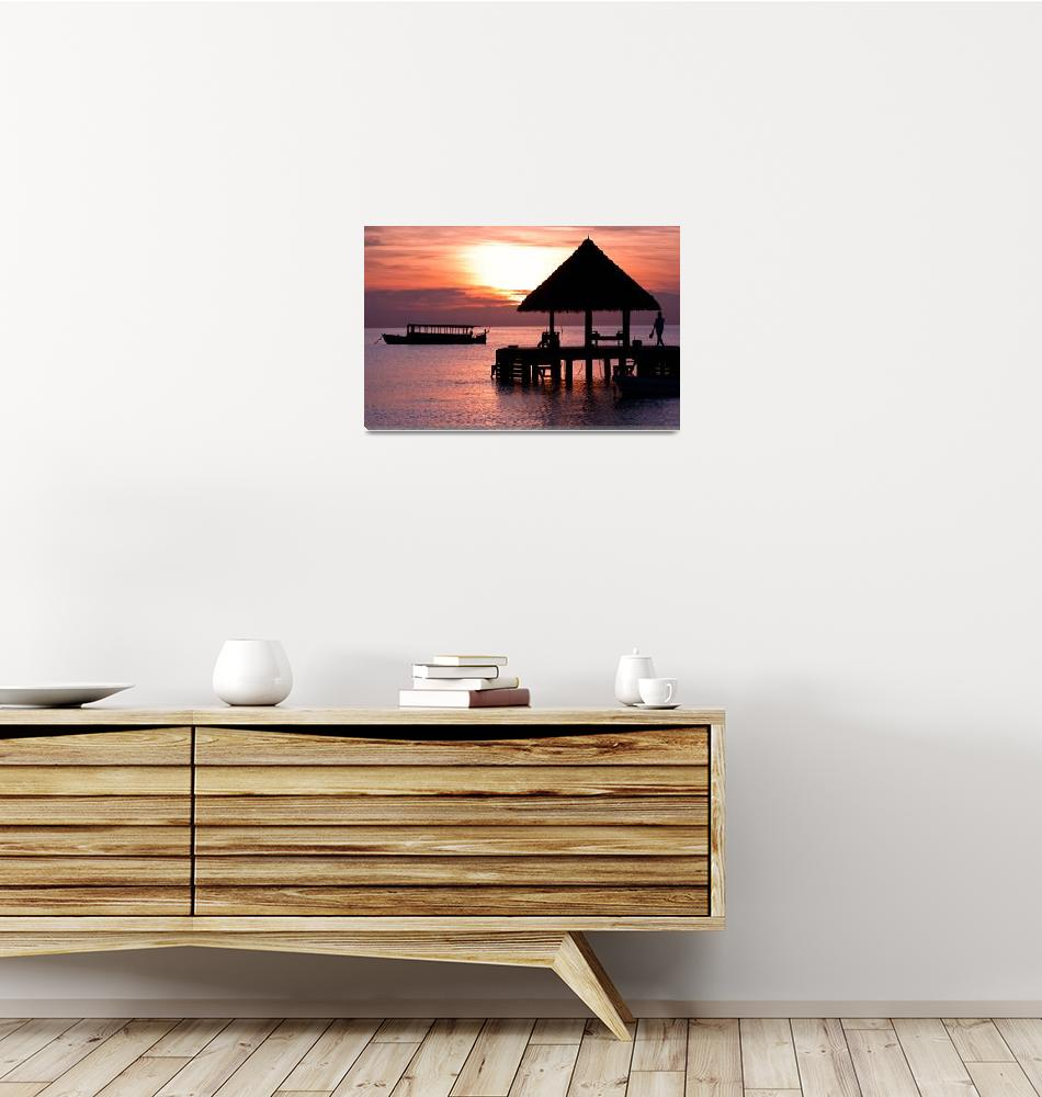 """""""Sunset in The Maldives""""  (2010) by pawelka"""