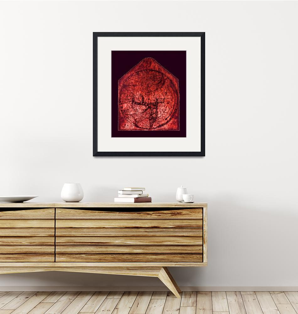 """Hereford Mappa Mundi Red Tint Medium Violet Border""  (2014) by TheNorthernTerritory"