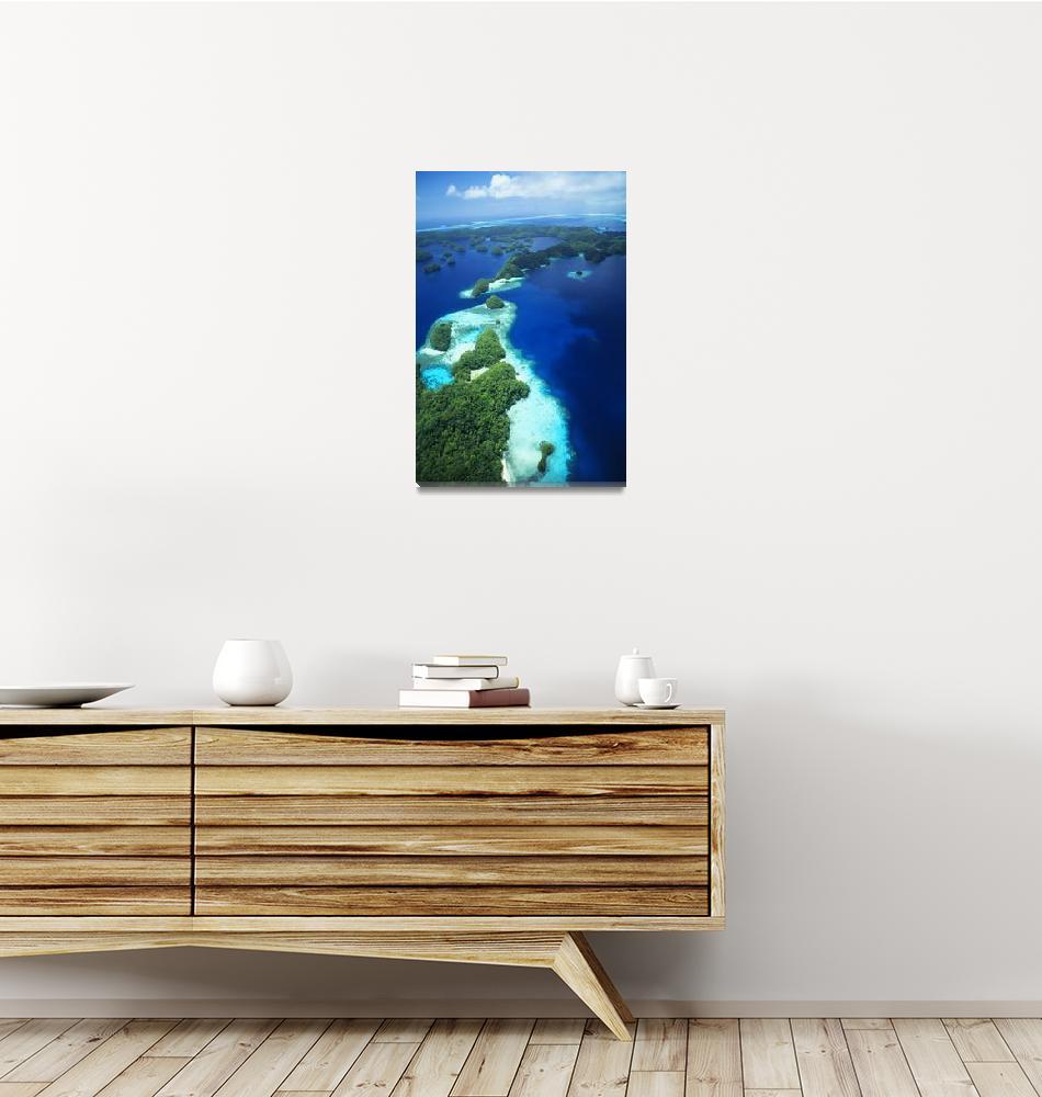 """Micronesia, Palau, Rock Islands, Aerial""  by DesignPics"