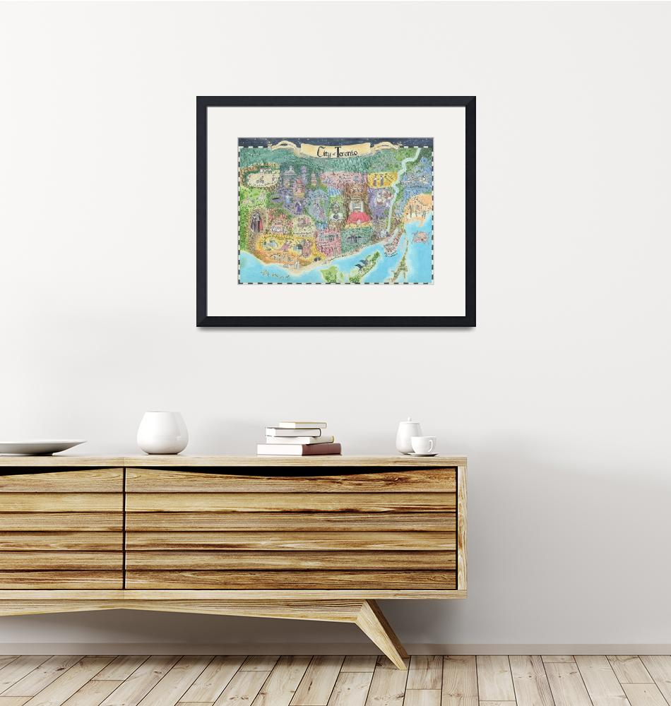 """Map of Toronto 2013 Might and Magic Style Print of""  (2013) by catshrine"