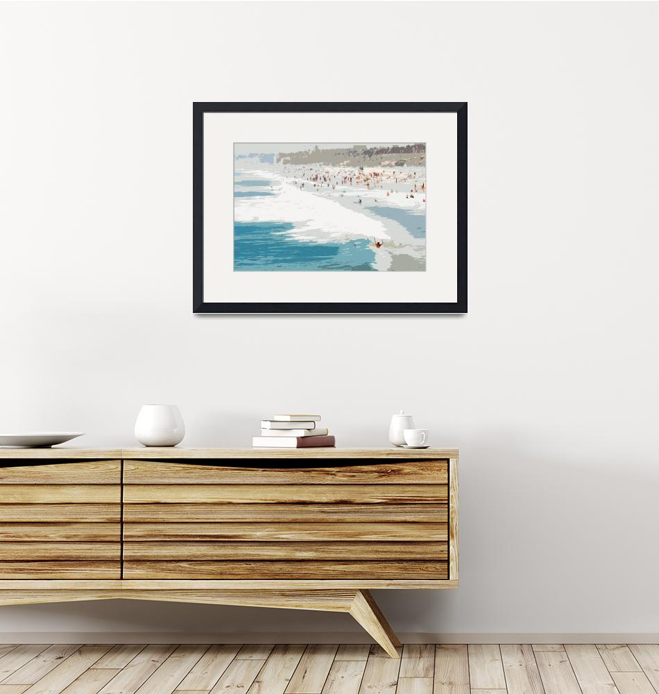 """""""A Day at the Beach XI - Abstract""""  by tomhawkins"""