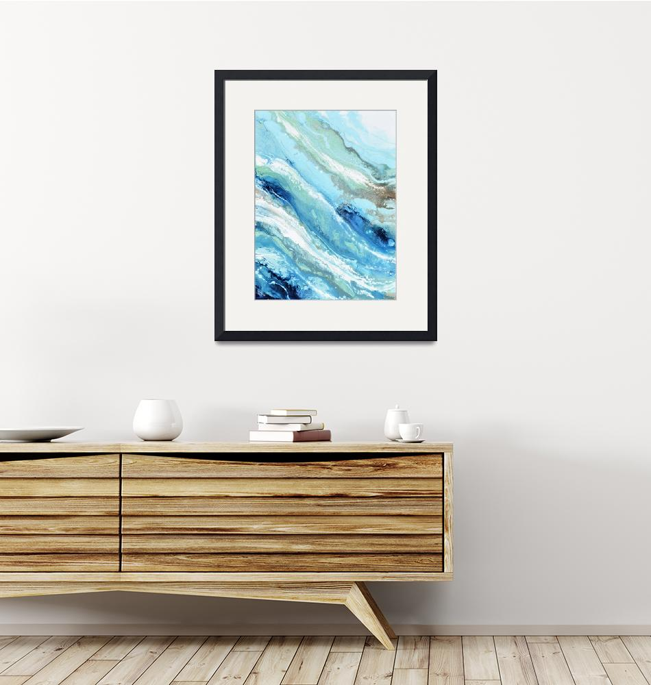 """""Pacific Blue"" Coastal Abstract""  by ChristineBell"