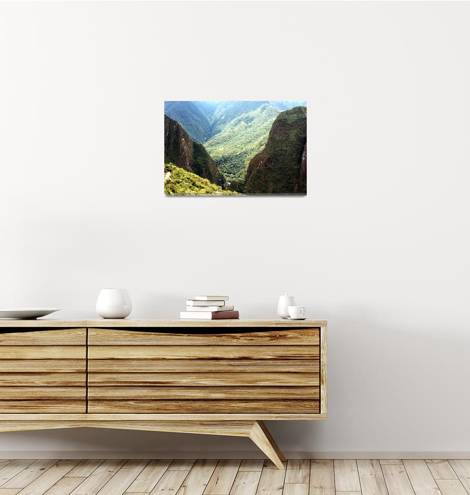 """""""Mountains at Machu Picchu""""  (2007) by CarrieWaters"""