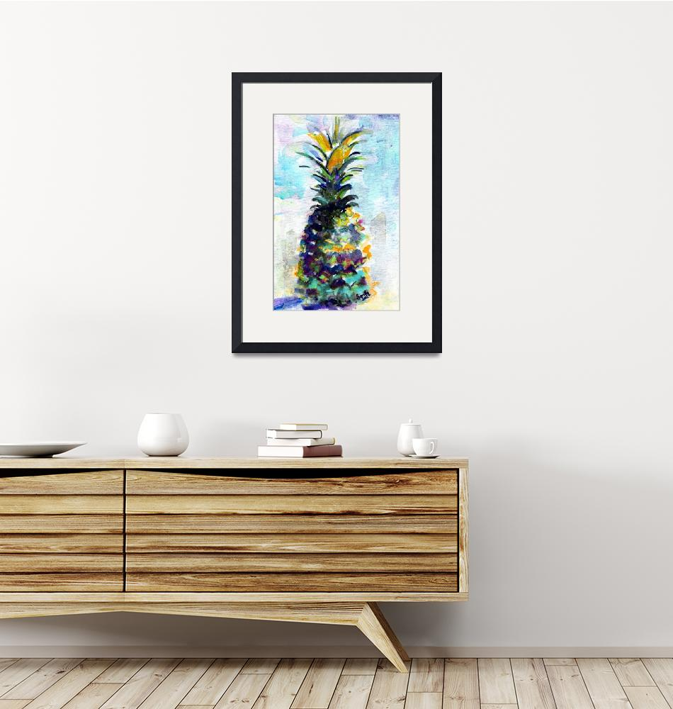 """Blue Pineapple by Ginette""  (2015) by GinetteCallaway"
