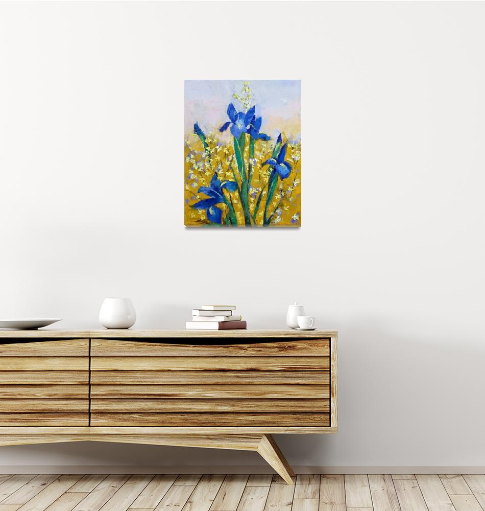"""""""Iris and Forsythia"""" by creese"""