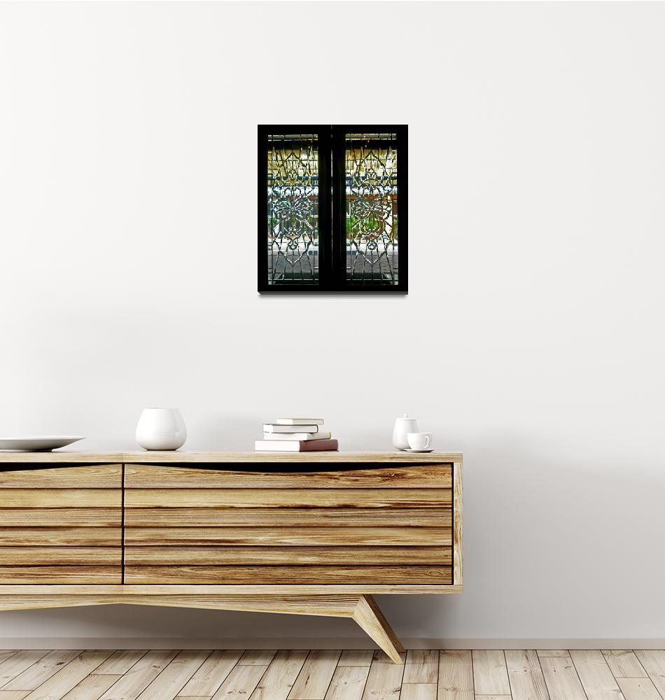 """Antique Lead Glass Doors""  (2009) by Markomarko"
