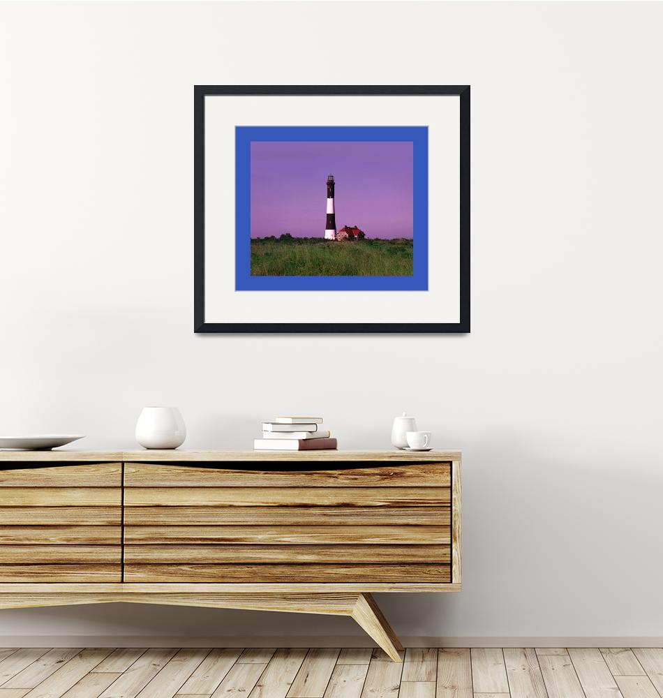 """""""Lighthouse Violet Sky large blue border""""  (2013) by TheNorthernTerritory"""