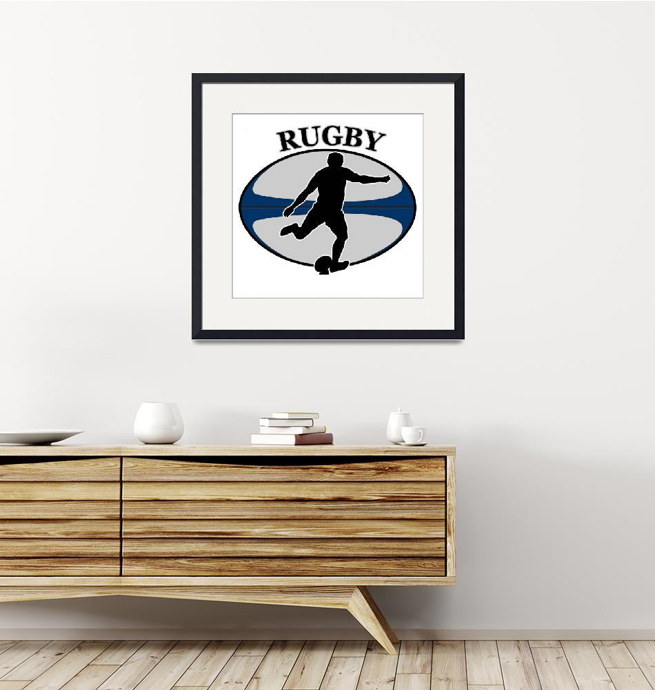 """""""rugby player kicking ball""""  (2013) by patrimonio"""