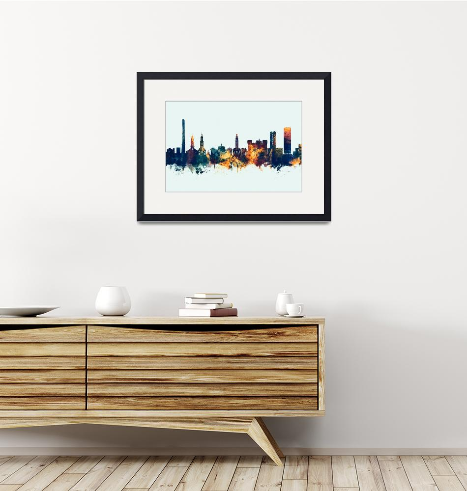 """Erlangen Germany Skyline""  (2018) by ModernArtPrints"