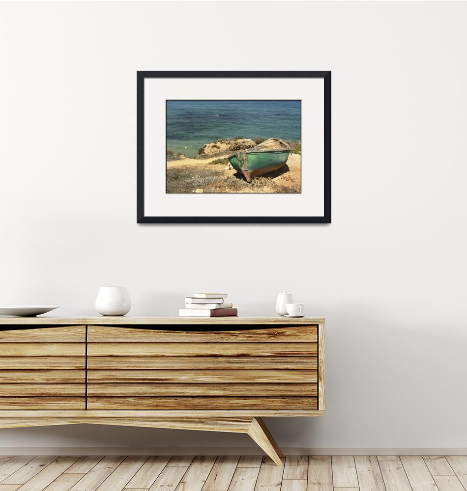 """""""Moored Boat on the Shore""""  (2005) by PhotoStock-Israel"""