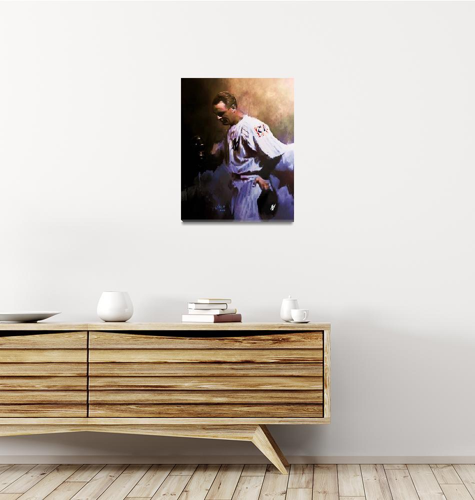 """Lou Gehrig, MLB New York Yankees Art""  (2012) by artofvela"
