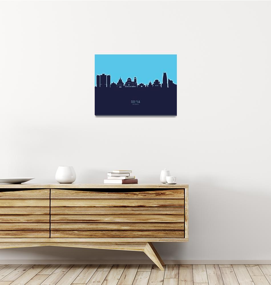 """""""Sofia Bulgaria Skyline""""  (2020) by ModernArtPrints"""