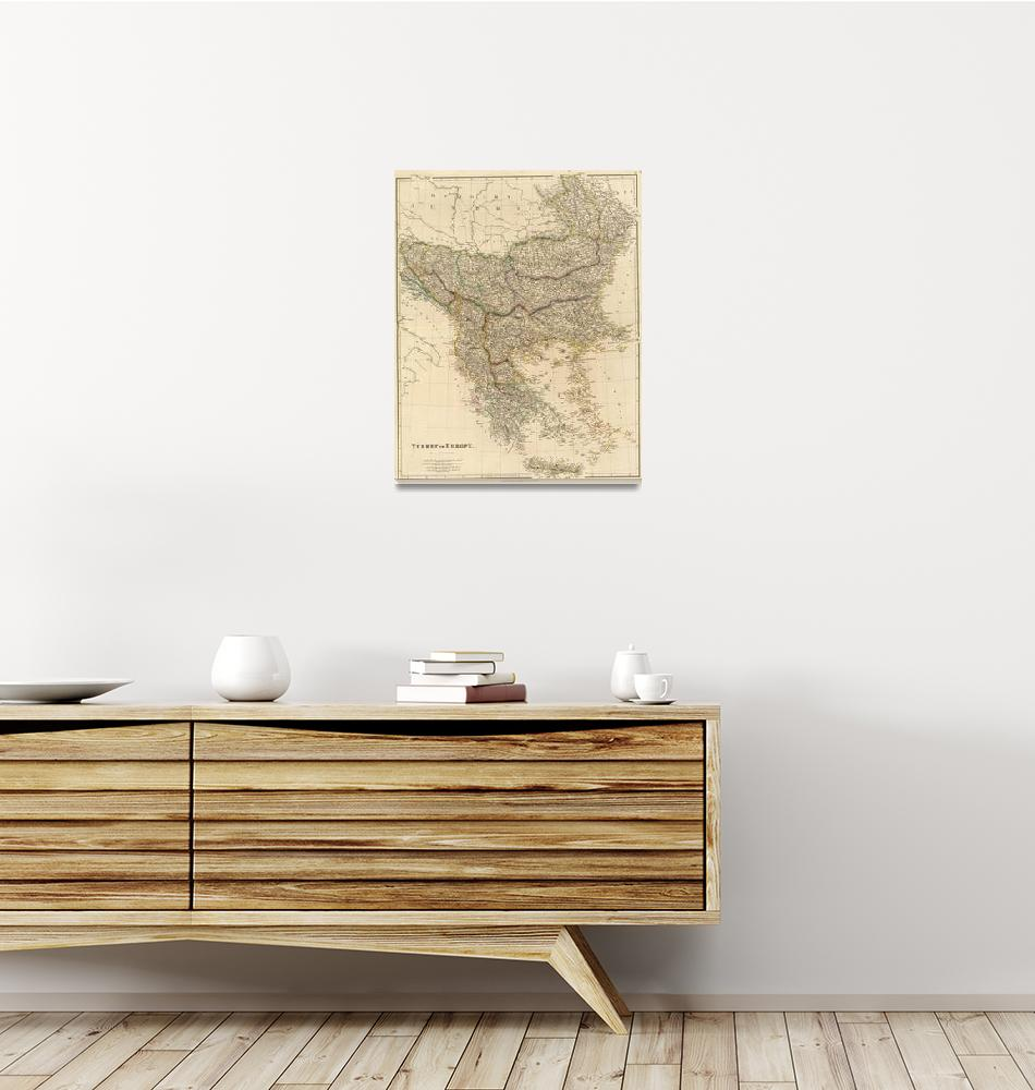 """""""Vintage Map of The Balkans (1832)""""  by Alleycatshirts"""