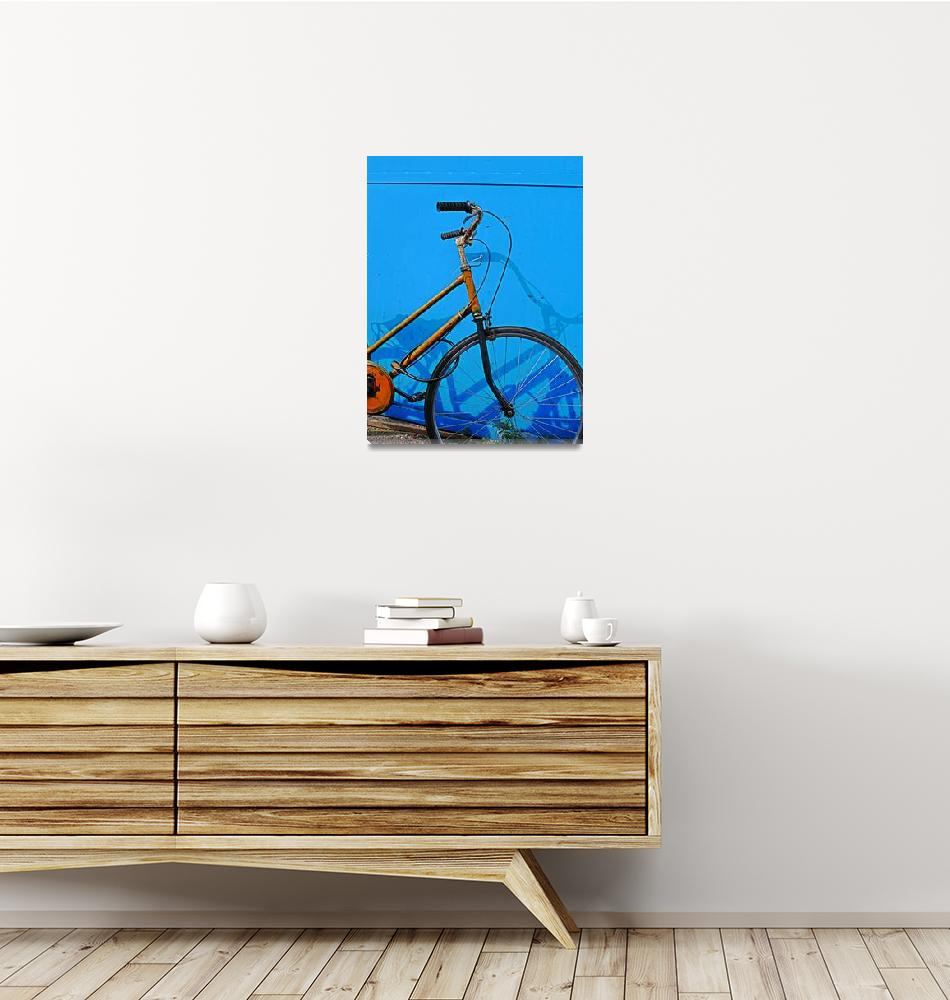 """Orange-Bike, Blue-Wall""  (2008) by nawfalnur"